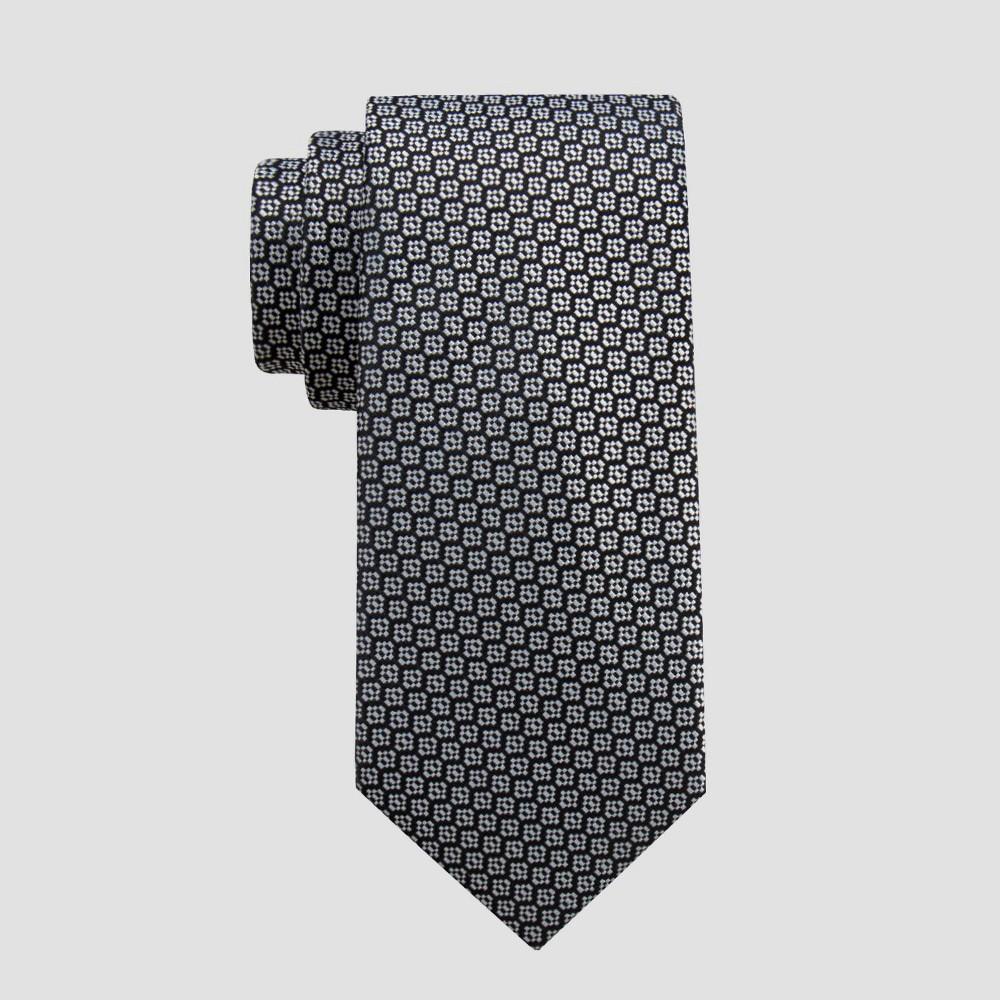 Image of Men's Dobble Neat Tie - Goodfellow & Co Black/White One Size, Men's
