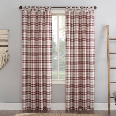 Blair Farmhouse Plaid Semi - Sheer Tab Top Curtain Panel - No. 918
