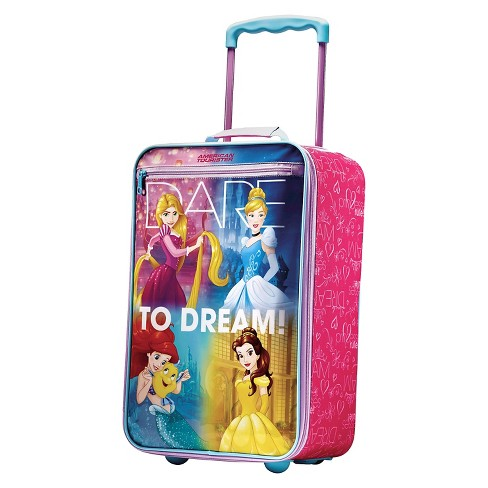 "American Tourister Disney Princess Softside Carry On Suitcase - Pink/Purple (18"") - image 1 of 6"