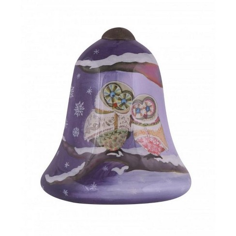 """NeQwa 3"""" """"Love Is The Greatest Blessing"""" Hand-Painted Blown Glass Christmas Ornament - Purple - image 1 of 2"""
