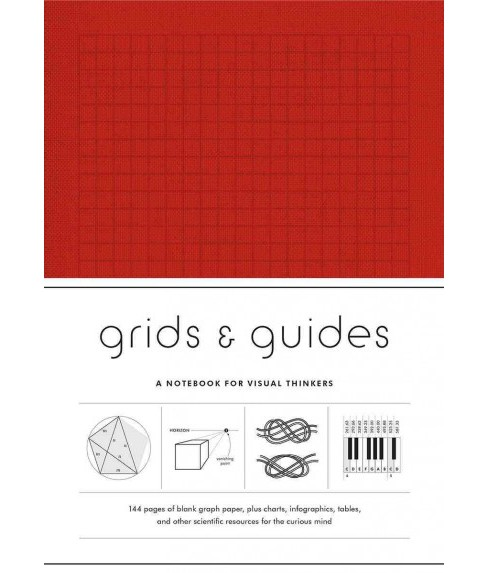 Grids & Guides - Red : A Notebook for Visual Thinkers (Paperback) - image 1 of 1
