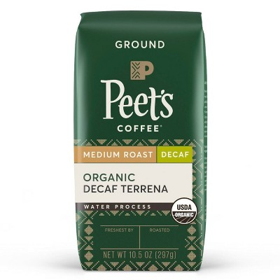Peet's Organic Decaf Terrena Medium Roast Ground Coffee - 10.5oz