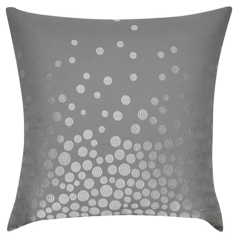Mid Gray Fading Circles Throw Pillow (22