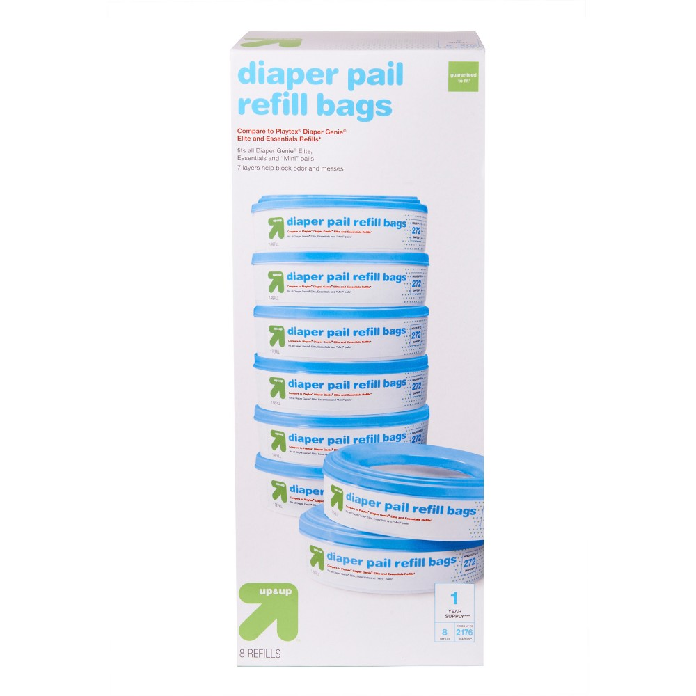 Image of Diaper Pail Refill Bags - 8pk - Up&Up