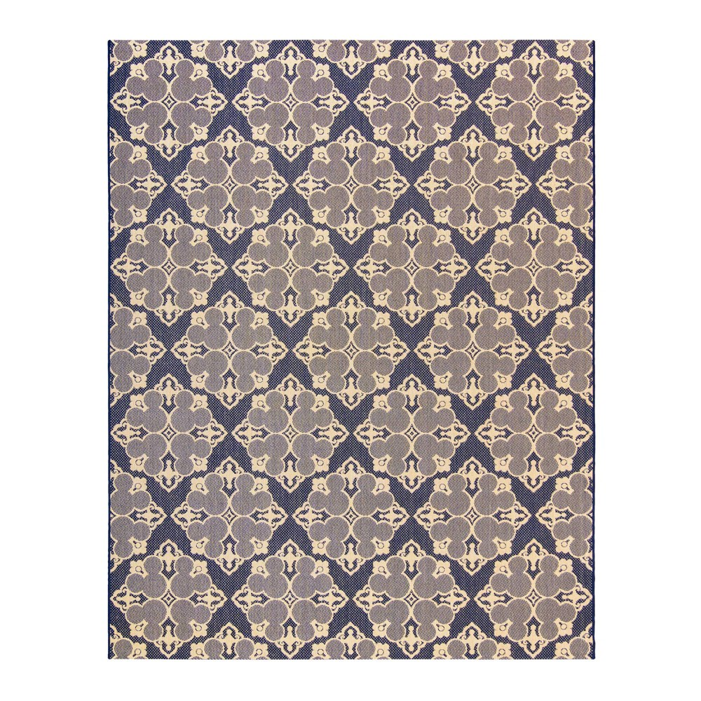 Image of 5'x7' Mickey Mouse & Friends Medallion Outdoor Rug Navy