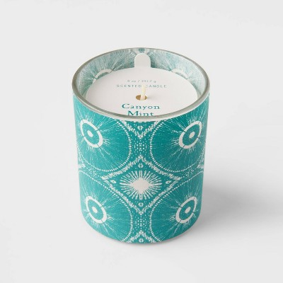 5oz Global Paper Wrapped Glass Canyon Mint Candle - Opalhouse™