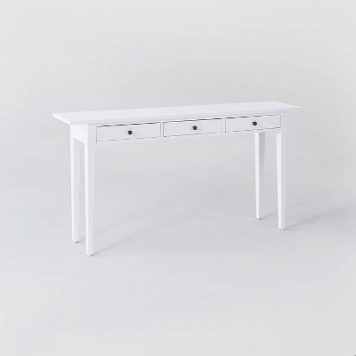 Dana Point Console Table 3 Drawers White - Threshold™ designed with Studio McGee