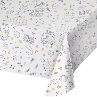 Easter Activity Tablecover White