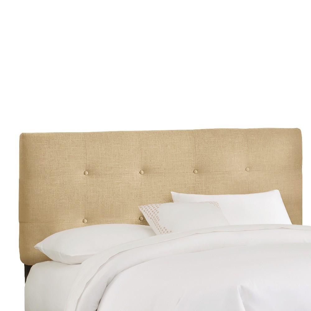 California King Dolce Headboard Tan Linen - Cloth & Co.
