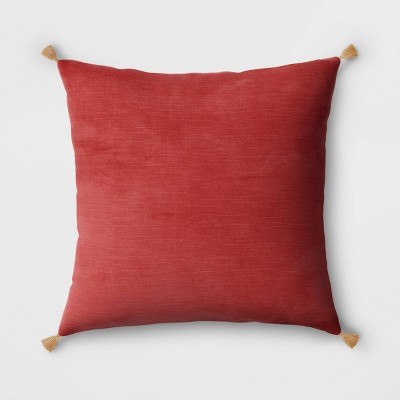 Velvet Throw Pillow with Tassels - Threshold™