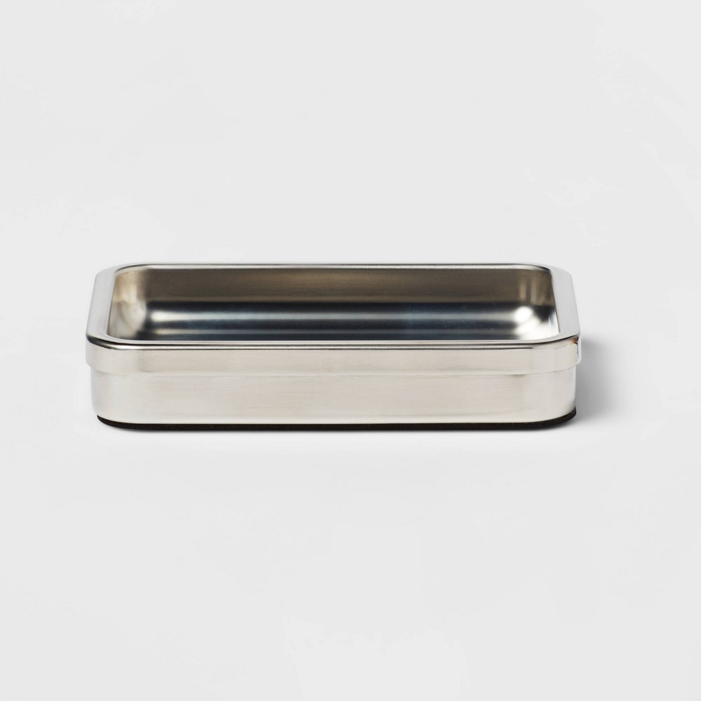 Brushed Stainless Steel Soap Dish Threshold 8482