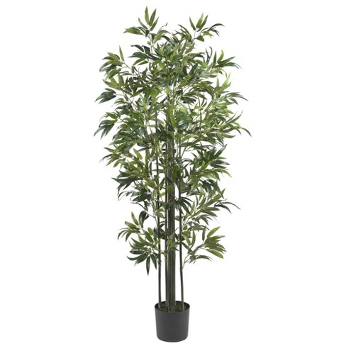 6ft Artificial Bamboo Silk Tree in Pot - Nearly Natural - image 1 of 1