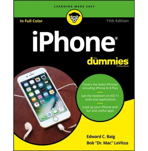 Iphone for Dummies -  by Edward C. Baig & Bob Levitus (Paperback) - image 1 of 1