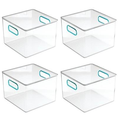 mDesign Plastic Kitchen Food Storage Organizer Bin, 4 Pack