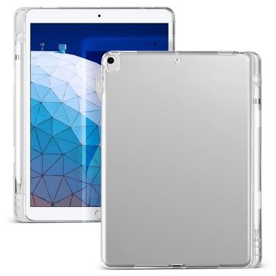"""Insten - Soft Transparent TPU Tablet Case For iPad Air 3 2019 / iPad Pro 10.5"""", with Pencil Holder, Shock Resistant, Slim Fit, Clear"""