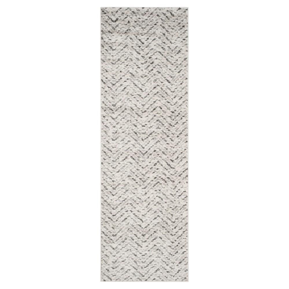 Adirondack Rug - Ivory/Charcoal - (2'6x12') - Safavieh, White