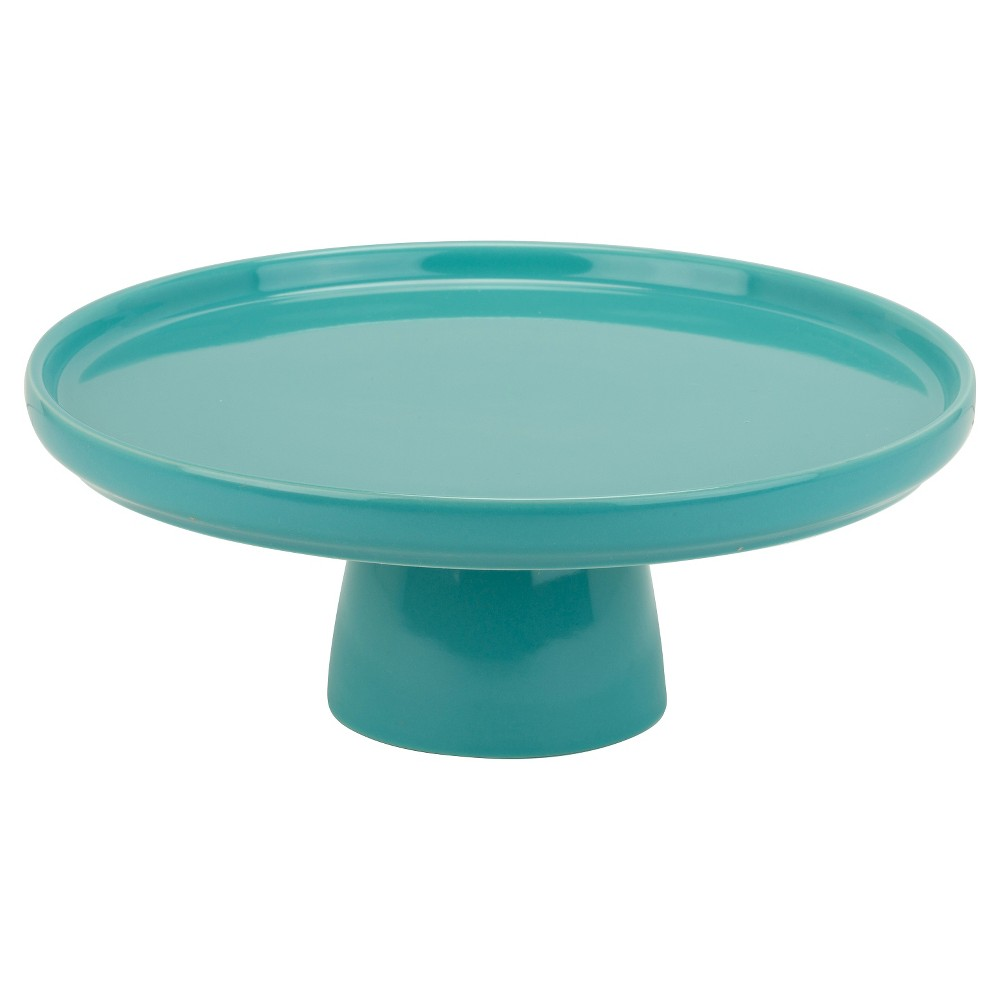 Image of 10 Strawberry Street 10 Whittier Cake Stand - Turquoise