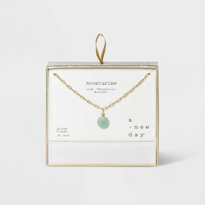 Silver Plated Paperclip Link Y Necklace - A New Day™