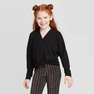 Girls' Knit Tie Front Cardigan   Art Class™ by Art Class