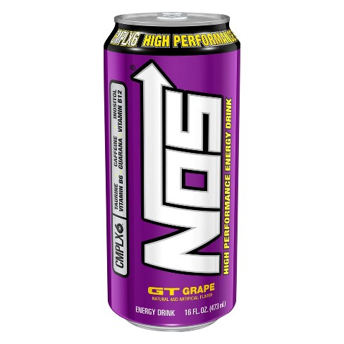 NOS® High Performance Grape Energy Drink - 16 fl oz Can - image 1 of 1
