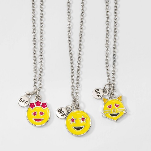 Girls' 3ct Smiley Face BFF Necklaces - Cat & Jack™ - image 1 of 2