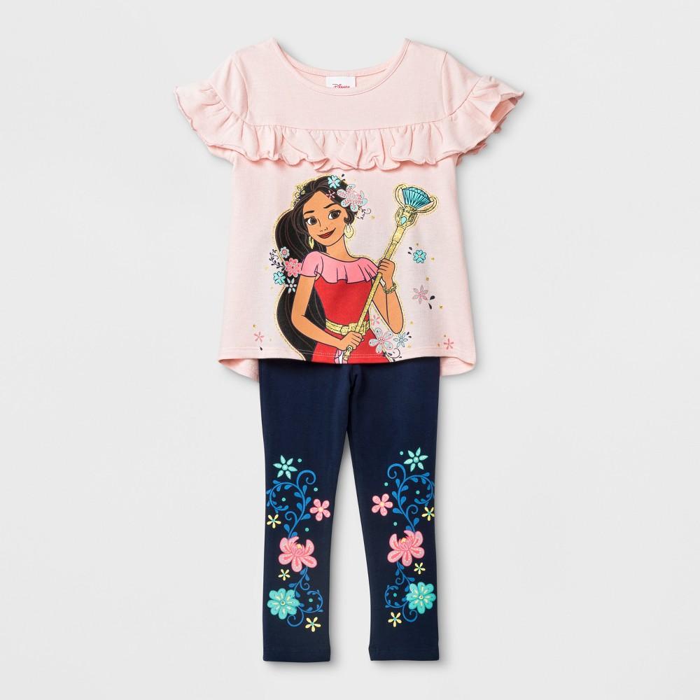 Toddler Girls' Disney Princess Elena of Avalor Short Sleeve T-Shirt & Leggings Set - Pink 3T, Multicolored