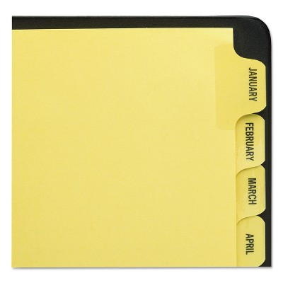 Avery Preprinted Laminated Tab Dividers w/Gold Reinforced Binding Edge 12-Tab Letter 11307