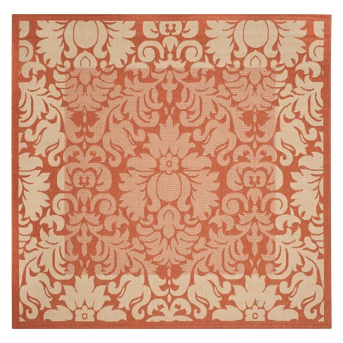 "Violetta Square 7'10"" X 7'10"" Outdoor Rug - Terracotta / Natural - Safavieh® - image 1 of 3"