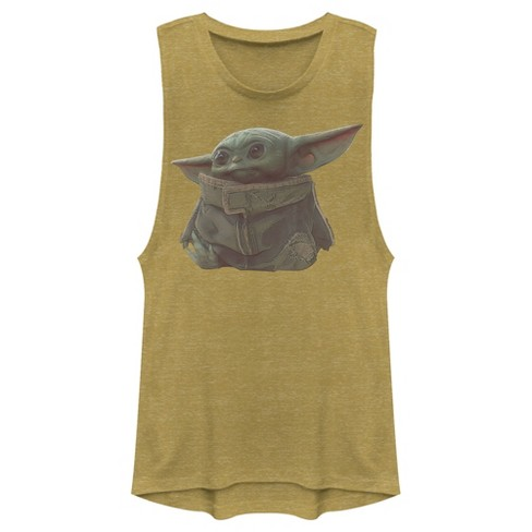 Junior's Star Wars The Mandalorian The Child Portrait Festival Muscle Tee - image 1 of 2