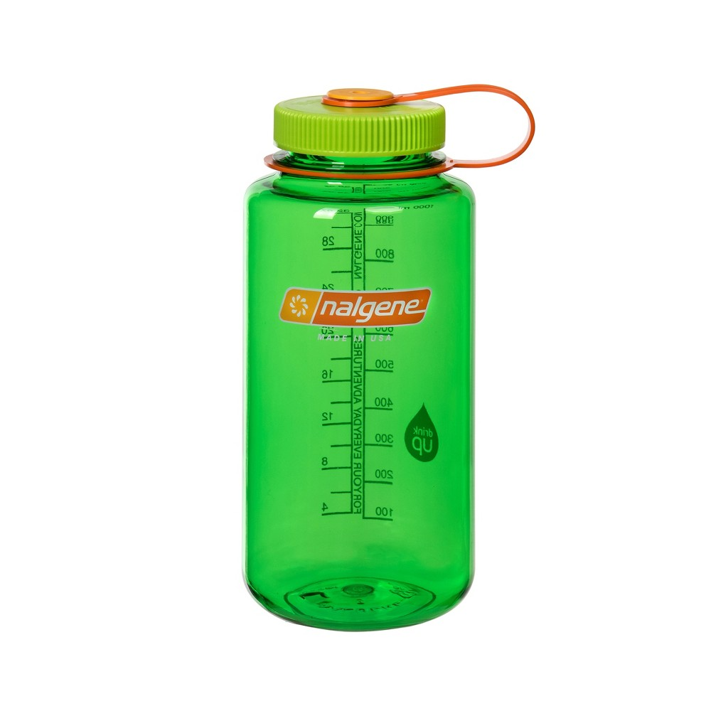 Nalgene Retro 32oz Wide Mouth Water Bottle - Lime Green, Green Green