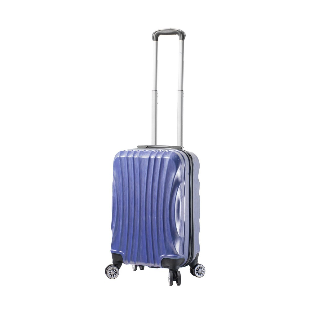 "Image of ""Mia Viaggi ITALY Bari 20"""" Hardside Carry On Suitcase - Pulp Blue"""