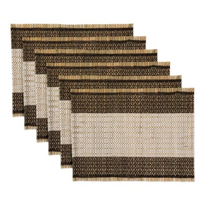 6pk Cotton Urban Oasis Reed Placemats - Design Imports