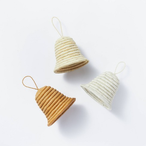 Set of 3 of Woven Bell Ornaments - Threshold™ designed with Studio McGee - image 1 of 4