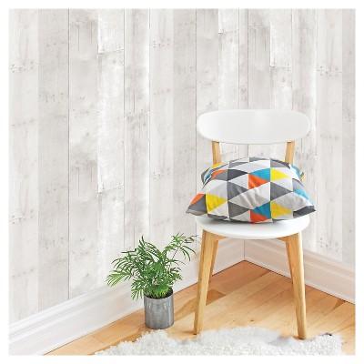 Devine Color Reclaimed Wood Peel & Stick Wallpaper - Lightning