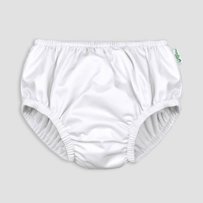 i play by green sprouts Baby Pull-up Swim Diaper - White 0-6M