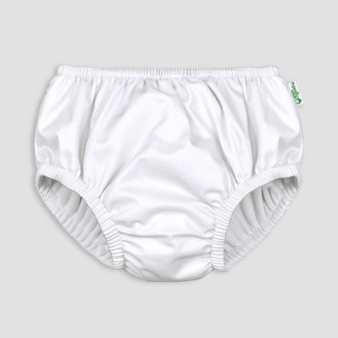 i play by green sprouts Baby Pull-up Swim Diaper - White - image 1 of 4