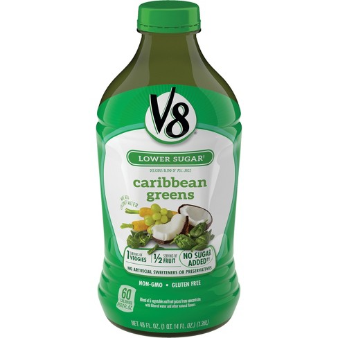V8 Veggie Blends Caribbean Greens Juice - 46 fl oz Bottle - image 1 of 6