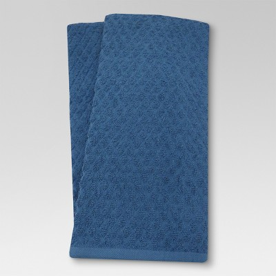 Terry Kitchen Towel Solid Dark Blue - Threshold™