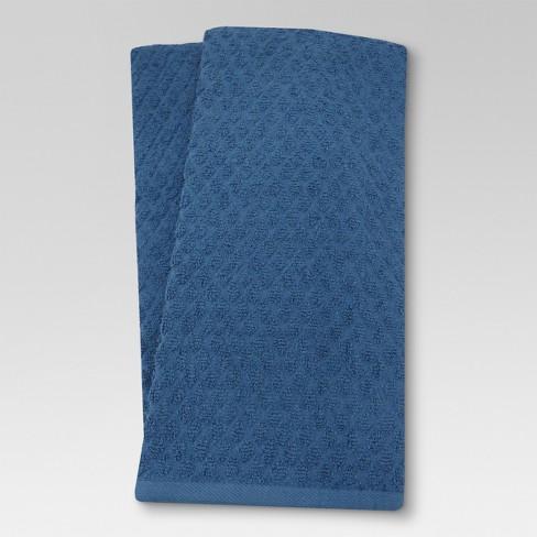 Terry Kitchen Towel Solid Dark Blue - Threshold™