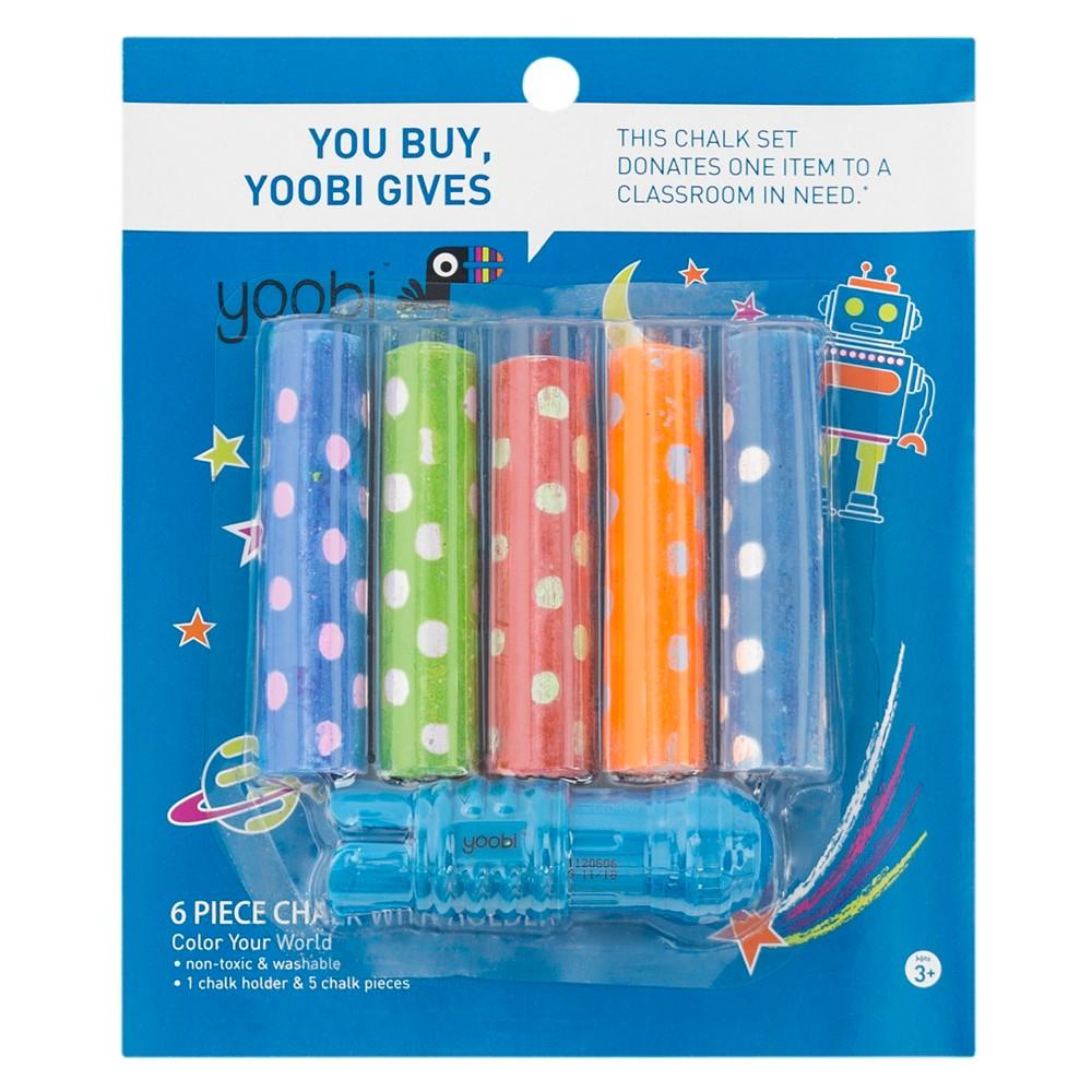 Yoobi Easy Grip Chalk Holder Set - 5pc, Multi-Colored
