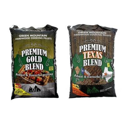 Green Mountain Premium Gold Blend Grilling Pellets, Premium Texas Blend Pellets