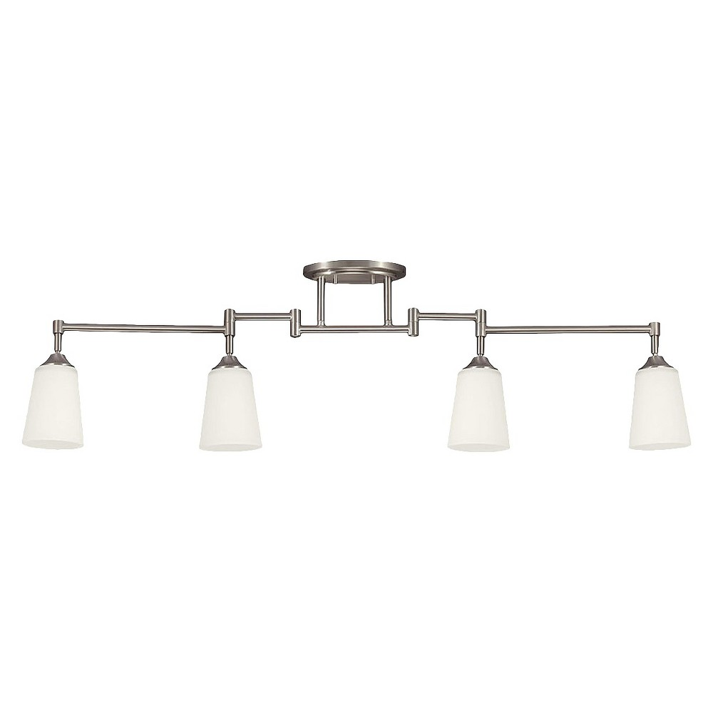 Sea Gull Lighting Four Light Track Lighting Kit in Brushed Nickel The Sea Gull Lighting Track Lighting four light track lighting kit in brushed nickel supplies ample lighting for your daily needs, while adding a layer of today's style to your home's décor. Gender: unisex.