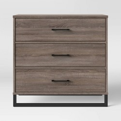 Mixed Material 3 Drawer Dresser Medium Brown - Room Essentials™