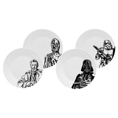 Zak Designs Star Wars® Stoneware Dessert Plates (7.5 )Black - Set of 4