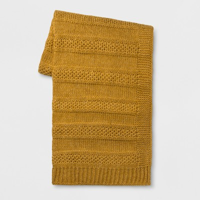 60 x50  Marled Knit Throw Blanket Gold - Threshold™