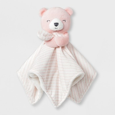 Baby Girls' Bear Cuddle Plush Blanky - Just One You® made by carter's Pink/White
