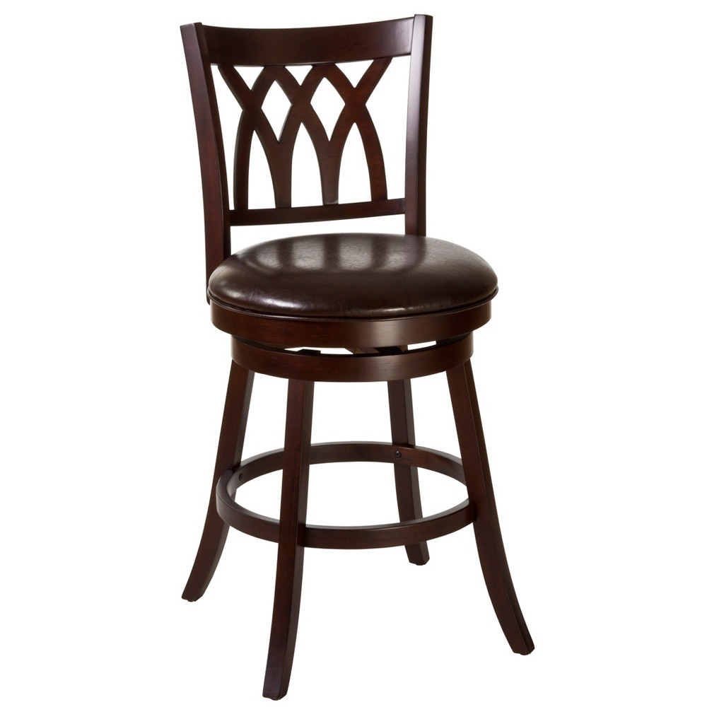 31 Tateswood Swivel Bar Stool Cherry/Brown (Red/Brown) - Hillsdale Furniture