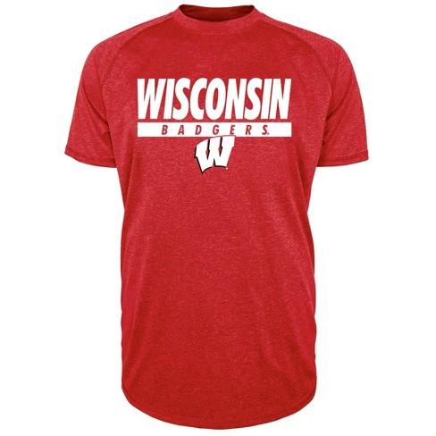 NCAA Wisconsin Badgers Men's Short Sleeve Raglan Performance T-Shirt - image 1 of 1