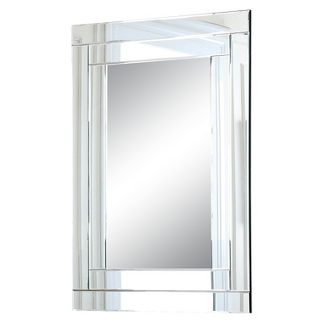 Hudson Rectangle Decorative Wall Mirror Silver - Abbyson Living