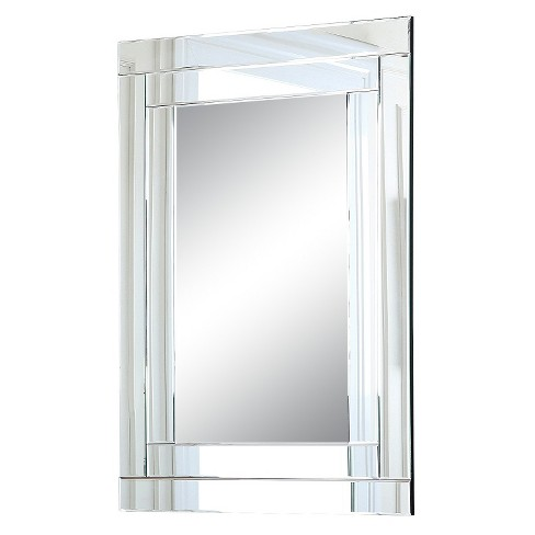 Rectangle Hudson Decorative Wall Mirror Light Silver - Abbyson Living - image 1 of 3